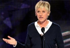 Ellen DeGeneres speaking